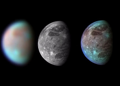 Views of Ganymede  Image: Nasa/JHUAPL/SWRI