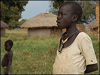 Two boys at Abia camp, northern Uganda