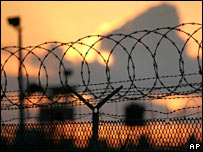 Barbed wire at Guantanamo Bay