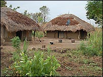 Two huts in Apungi Village
