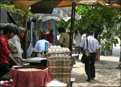 Street market in Calcutta