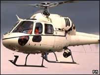 The group was travelling in a Twin Squirrel helicopter