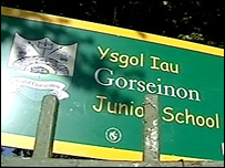 Gorseinon Junior School sign