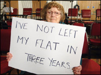 """I've Not Left My Flat In Three Years"" sign"