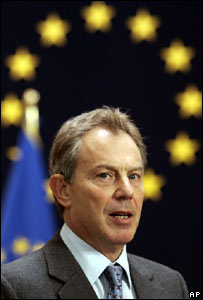 Tony Blair at the EU in 2007