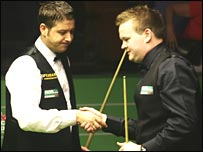 Matthew Stevens and Shaun Murphy