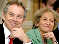 Tony Blair and Rosie Winterton