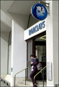 Barclays bank branch entrance