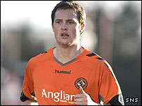 Dundee United striker Jon Daly