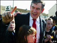 Gordon Brown in Edinburgh