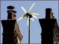 Micro wind turbine (Image: PA)