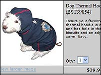 Barbra Streisand dog hoodie