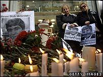 Vigil in Istanbul for Hrant Dink, January 2007