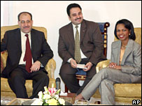 Iraqi PM Nouri Maliki meets US Secretary of State Condoleezza Rice in Sharm el-Sheikh ahead of the summit