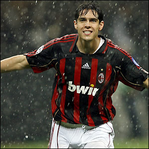 Kaka celebrates his early goal
