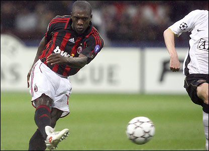 Seedorf unleashes a shot that finds the net
