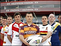 Players at the Millennium Stadium
