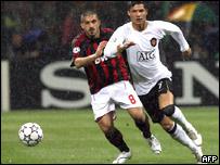 Genaro Gattuso y Cristiano Ronaldo