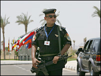 Egyptian police officer in Sharm el-Sheikh