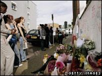 Flowers laid for murdered teenager Kodjo Yenga