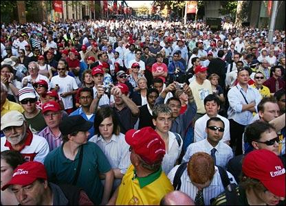 Fans in Sydney