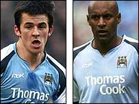 Joey Barton (left) and Ousmane Dabo