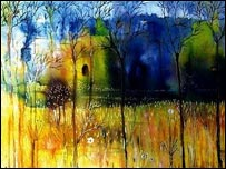 Painting by Iraqi artist Betool Fekaiki