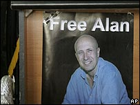 Poster calling for the release of Alan Johnston