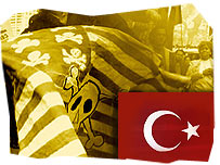 Turkish and US flag