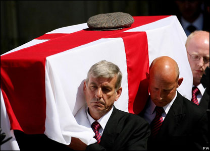 Alan Ball's coffin