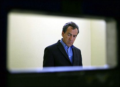 Robert Lindsay in The Trial of Tony Blair/ Channel 4