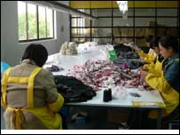 Migrant workers toil in Shanghai's clothing factories
