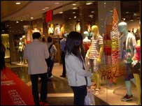 Shoppers have a range of Western goods in Shanghai