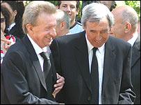 Denis Law and Gordon Banks