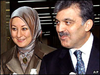 Presidential candidate Abdullah Gul and his wife, Hayrunisa