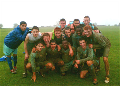 Filton College U18 team after their 4-2 victory against Bath City U18