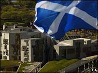 Flag at Holyrood