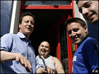 David Cameron campaigning in Brighton