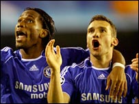 Didier Drogba (left) and Andrei Shevchenko