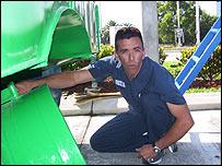 Luis Gras, camionauta cubano