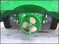 Hélice conectada al cardán del camión Chevrolet de 1951