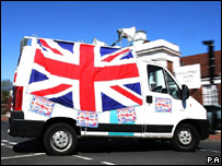 A BNP election van