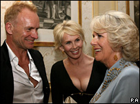 Sting, Trudi Styler and the Duchess of Cornwall