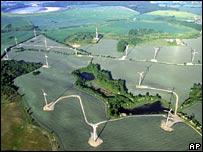 Wind farm in Poland. Image: AP