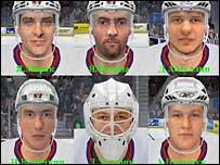 Цифровые лица игроков 'Магнитки'