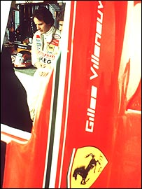 Gilles Villeneuve in the Ferrari pit in 1980