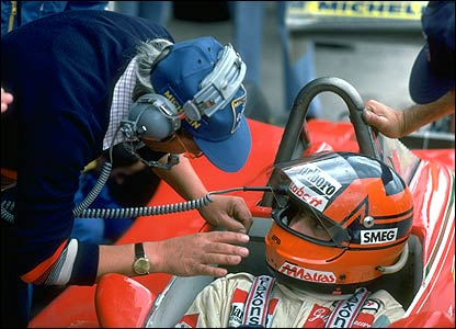 Gilles Villeneuve talks to Mauro Forghieri