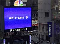 Reuters building in Times Square, New York