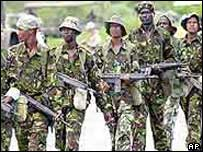 Kenyan soldiers in joint exercise with US