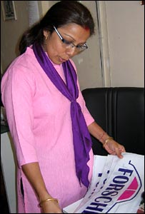 Revathi Roy, owner of Forshe taxi service